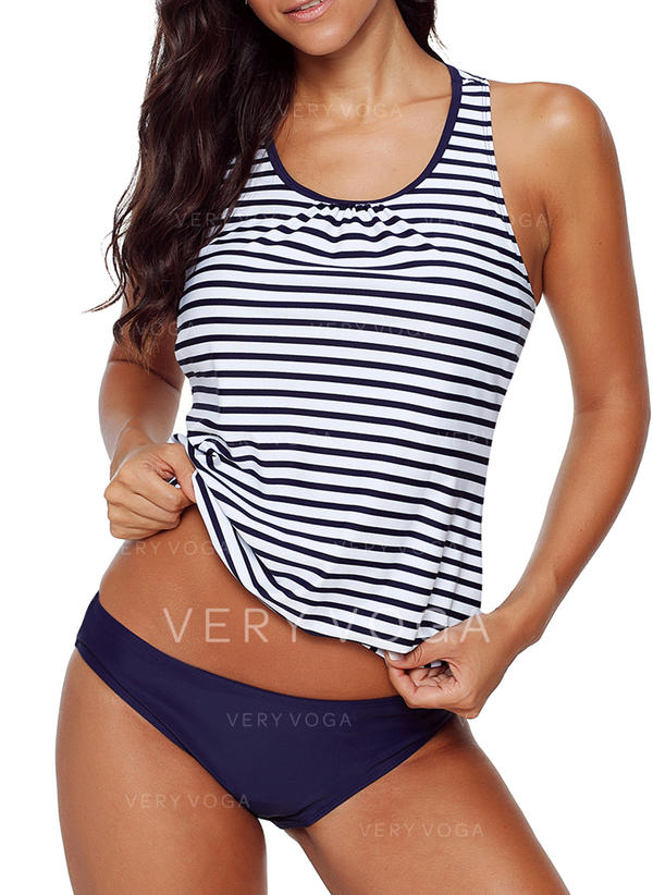 Stripe Strap Sexy Tankinis Swimsuits