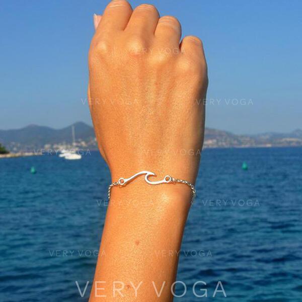Le plus chaud Vague Alliage Bracelets
