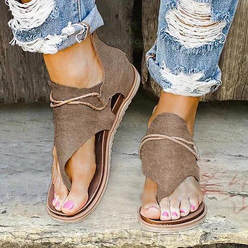 Naisten PU Matalakorkoiset Heel Sandaalit Peep toe jossa Vetoketju kengät