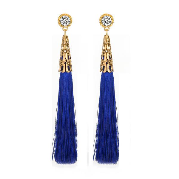 Fashionable Alloy Rhinestones Ladies' Fashion Earrings
