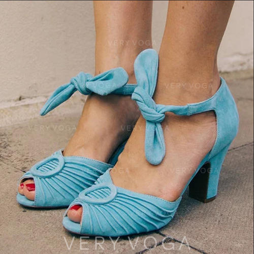 Women's PU Stiletto Heel Sandals Pumps With Bowknot shoes