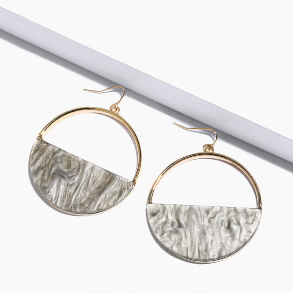 Fashionable Chic Alloy With Imitation Stones Earrings