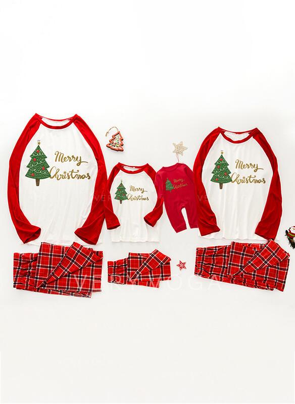Kratę List Wydrukować Rodzinne Dopasowanie Świąteczne piżamy