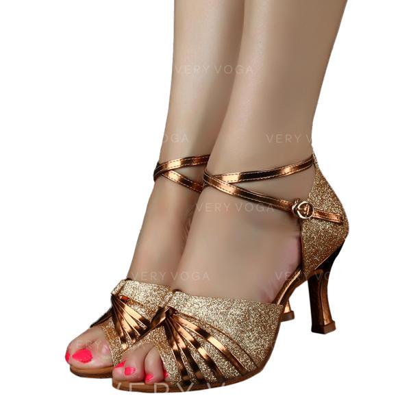 De mujer Danza latina Tacones Brillo Chispeante Danza latina