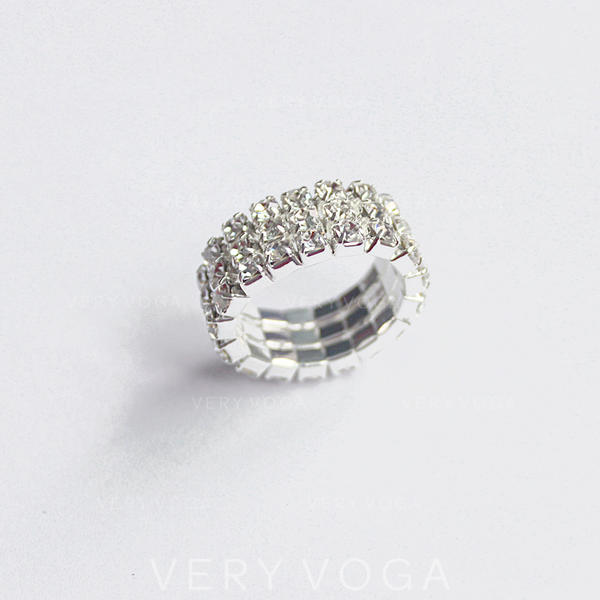 Beautiful Alloy Rhinestones Women's Rings (Sold in a single piece)