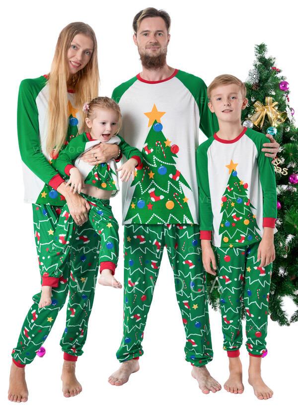 Друк Для сім'ї Різдвяні піжами
