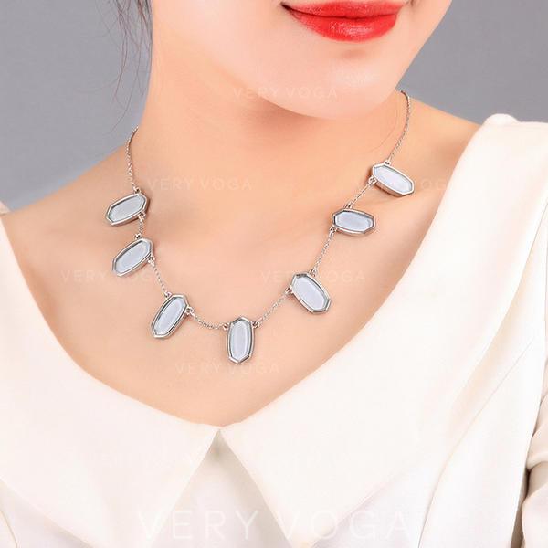 Einzigartig Legierung mit Strass Frauen Halsketten
