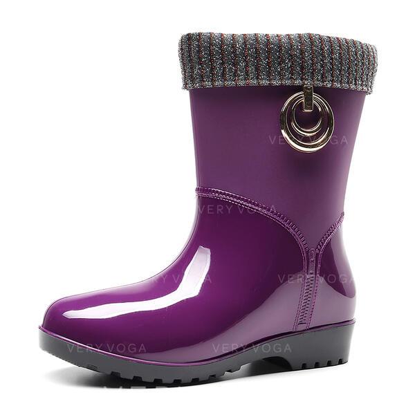 Rubber Low Heel Rain Boots shoes