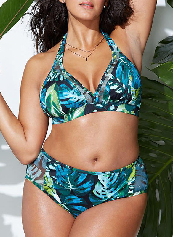 Siipi riimu Seksikäs Plus-koko Bikinit Uima-Asut