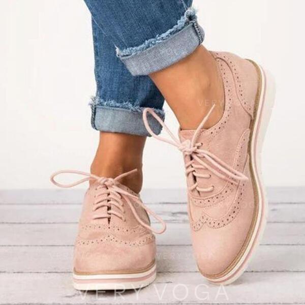 PU Senza tacco Ballerine con Allacciato scarpe