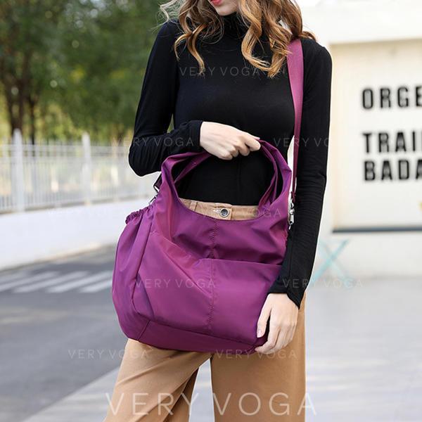 Solid Color Nylon Satchel/Hobo Bags