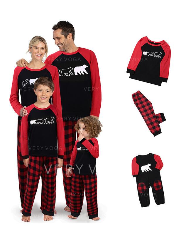 Bear Plaid Family Matching Christmas Pajamas