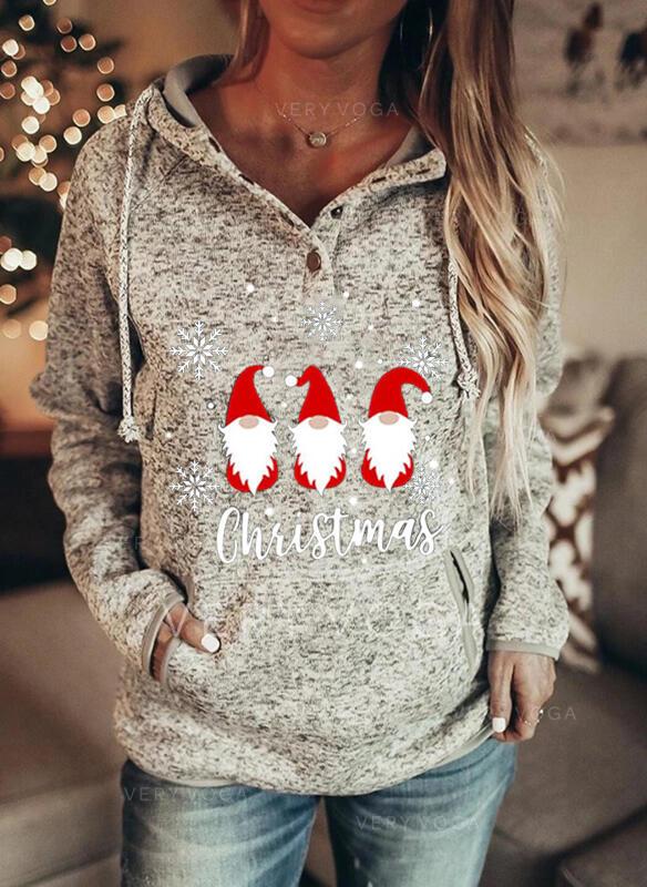 Inmprimé Figure Les poches Manches longues Sweat de Noël