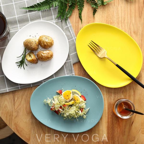 Einfache Porzellan Teller