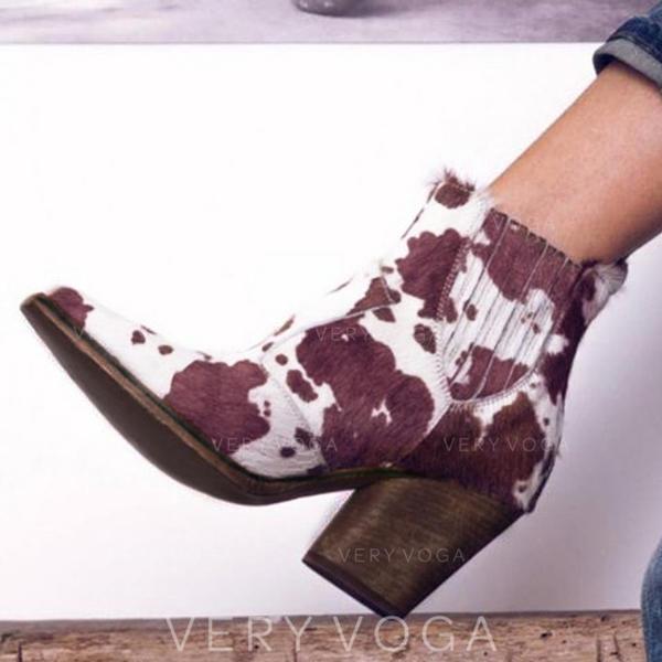Bayanlar PU Tıknaz Topuk bot ayakkabı Ile Diğerleri ayakkabı