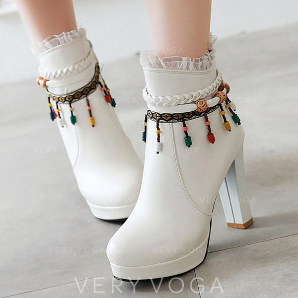 Kvinner PU Stiletto Hæl Ankelstøvler med Glidelås sko