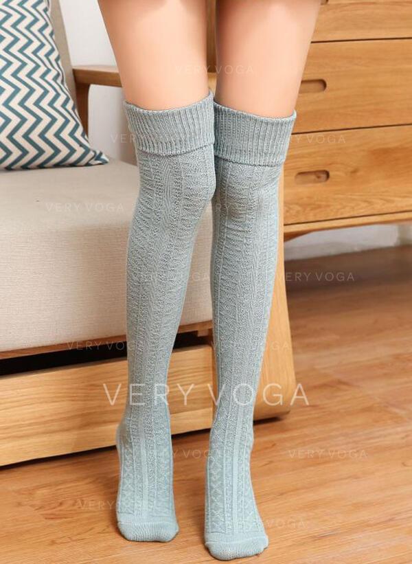 Szolid szín Meleg/Kényelmes/Női/Térdig érő zokni Zokni/Harisnya