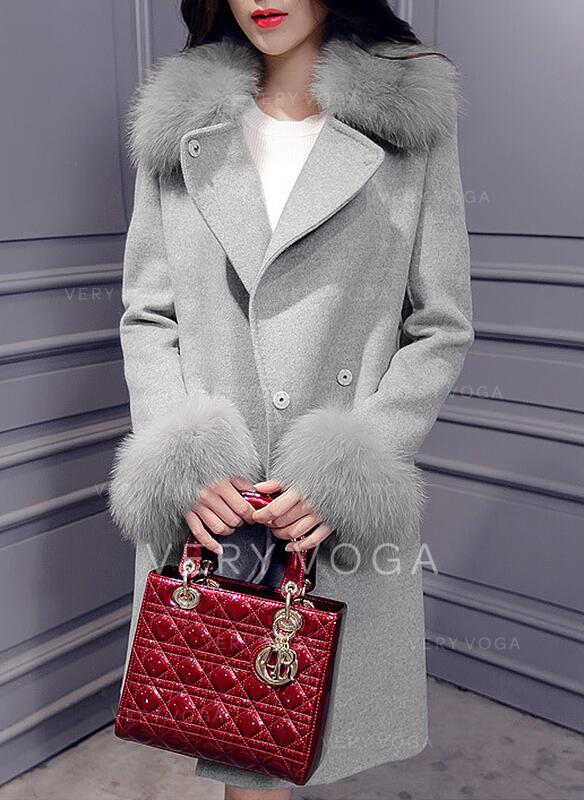 Woolen Long Sleeves Plain Woolen Coats
