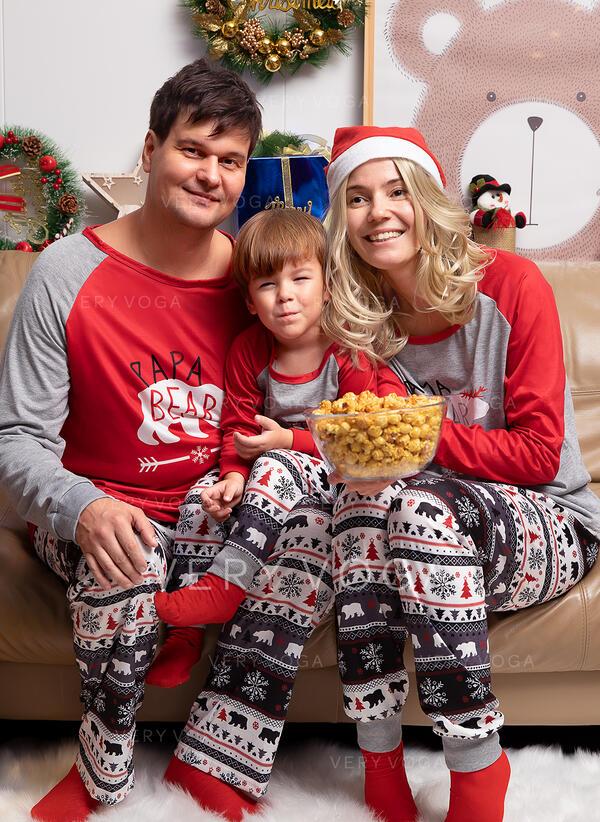 Niedźwiedź List Wydrukować Rodzinne Dopasowanie Świąteczne piżamy