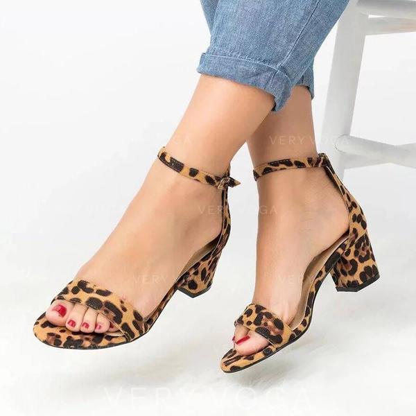 Donna PU Tacco spesso Sandalo Stiletto Punta aperta con Altrui scarpe