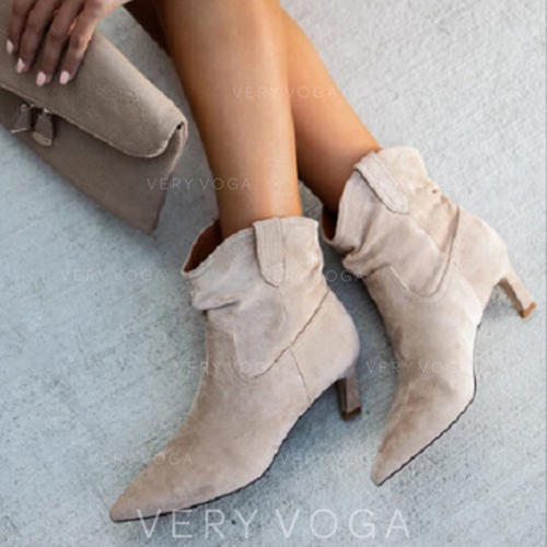Women's PU Stiletto Heel Pumps Boots With Others shoes