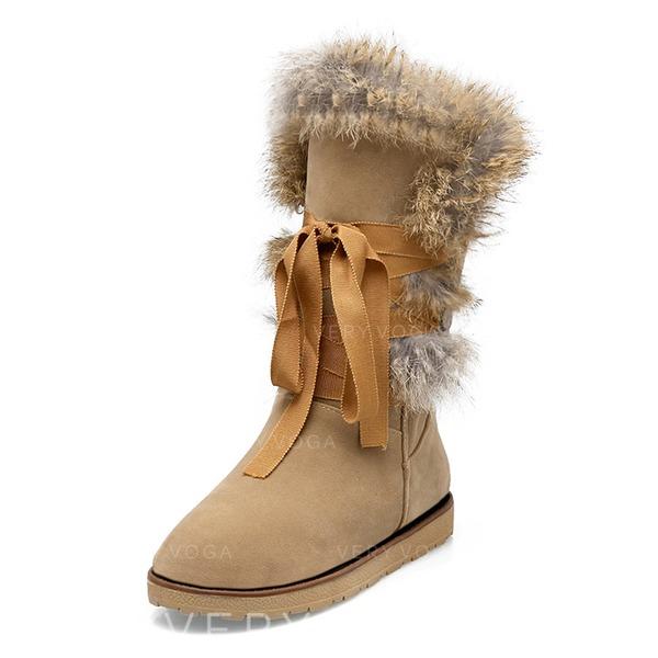 fa379481270 Λείαντο Επίπεδη φτέρνα Μίνι μπότες Με Γούνα παπούτσια (088097896 ...