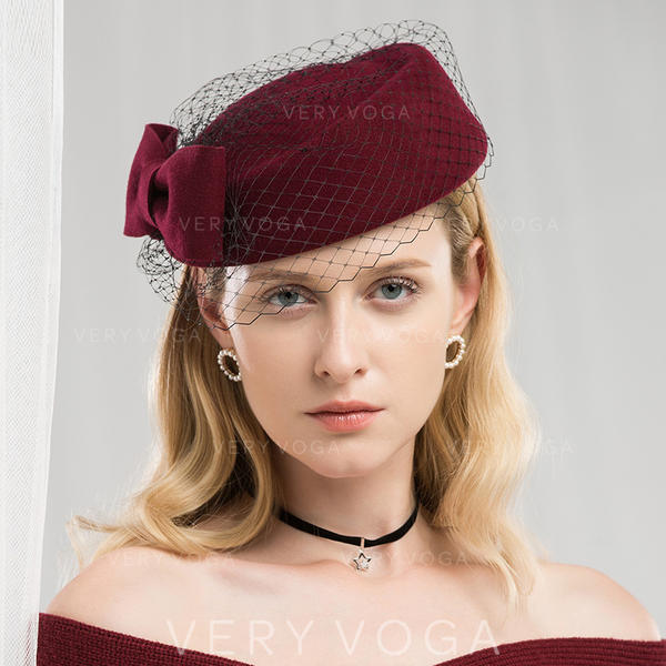 312eac6b79747 Ladies  Special Romantic Wool With Tulle Beret Hat (196178756 ...