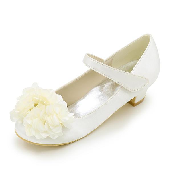 8f6d2f8fdca Χαμηλή τακούνια Κλειστά παπούτσια Γοβάκια Κορίτσι λουλουδιών ...