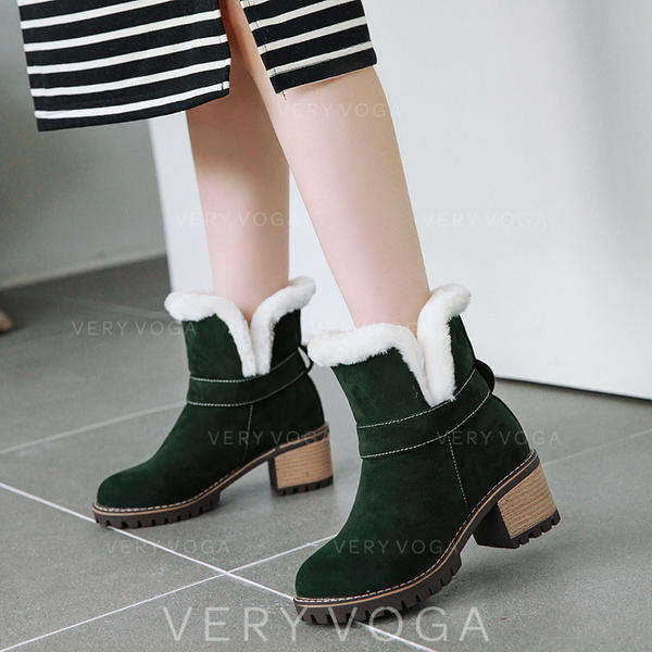 Vrouwen Kunstleer Chunky Heel Laarzen Enkel Laarzen Snowboots met Gesp schoenen