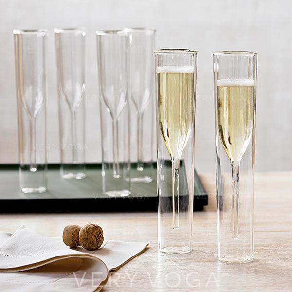 Classic Glass Champagne Glasses (Set of 2)