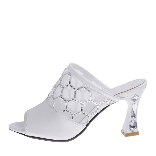 Silver Mesh Rhinestone Heels Sandals Peep Toe Slingback