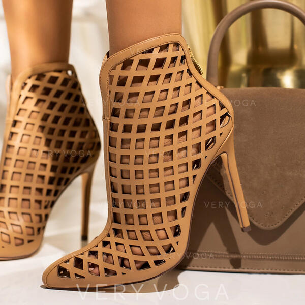 Women's PU Stiletto Heel Sandals With Hollow-out shoes
