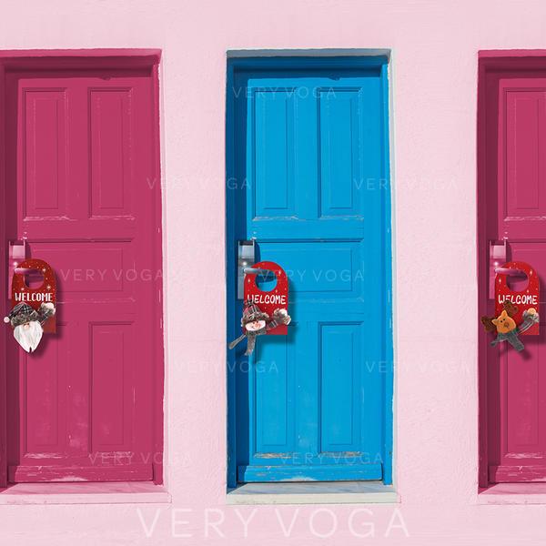 god Jul Snögubbe Ren Santa Trä Ovävt tyg Juldekor Dörrhängning
