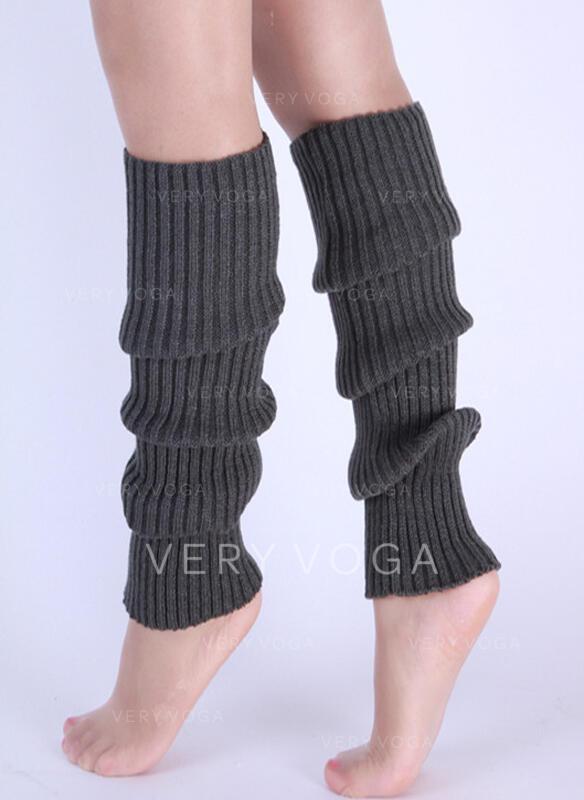 Csíkos/Szolid szín Kényelmes/Női/Lábmelegítő/Csizma mandzsetta zokni Zokni