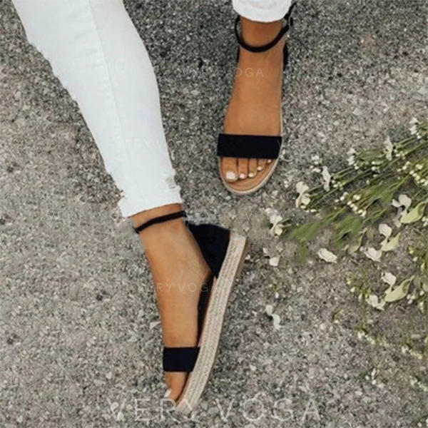 Women's Velvet Flat Heel With Buckle shoes