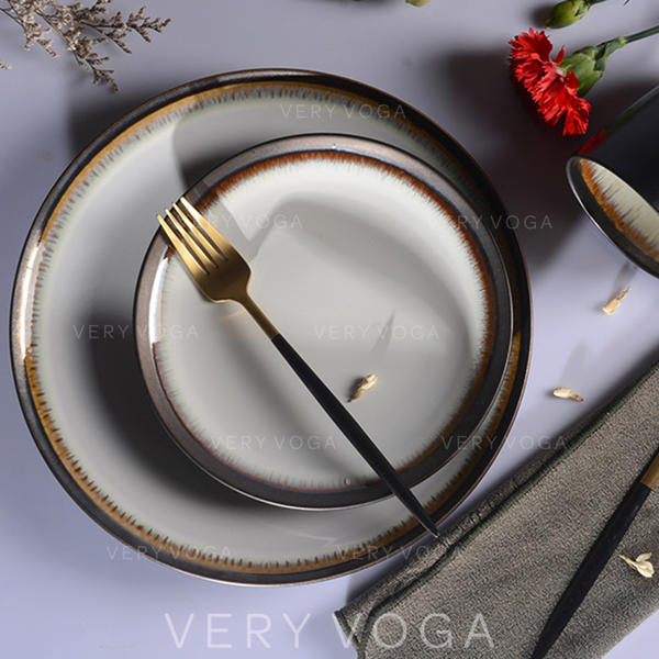 Contemporary Porcelain Dinnerware Sets (Set of 3)