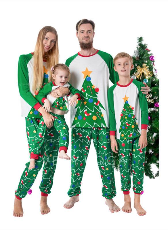 Farbblock Drucken Passende Familie Christmas Pajamas