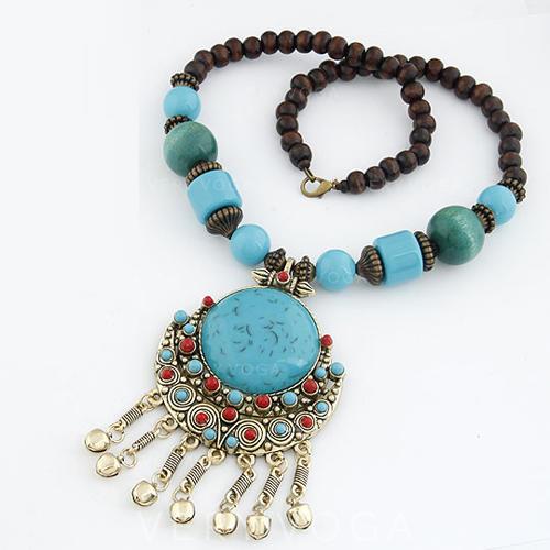 Exotisch Legierung Harz Frauen Halsketten