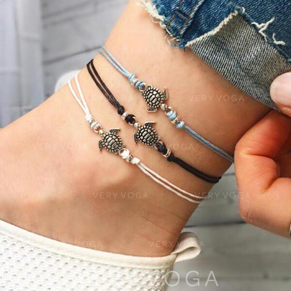 Stylish Charming Alloy Anklets (Set of 3)