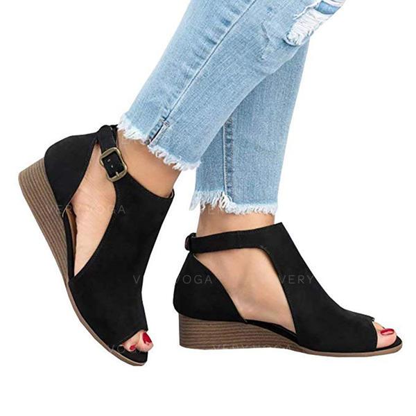 Dla kobiet Tkanina Niski Obcas Sandały Z Pozostałe obuwie