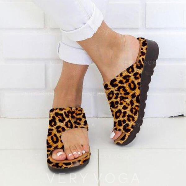 Női PU Lapos sarok Lakások Papucs Toe Ring -Val Egyéb cipő