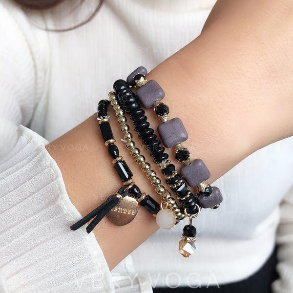 Fashionable Classic Simple Alloy Resin Crystal