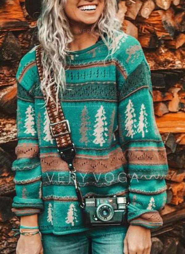 Жіночі Поліестер Друк Смішні светри для різдва