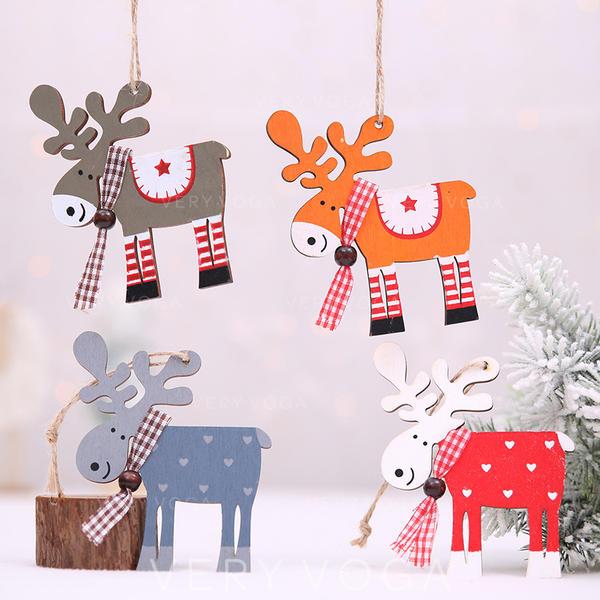 щасливого Різдва Олені Підвішування Дерев'яні Різдвяна кулон Різдвяний декор