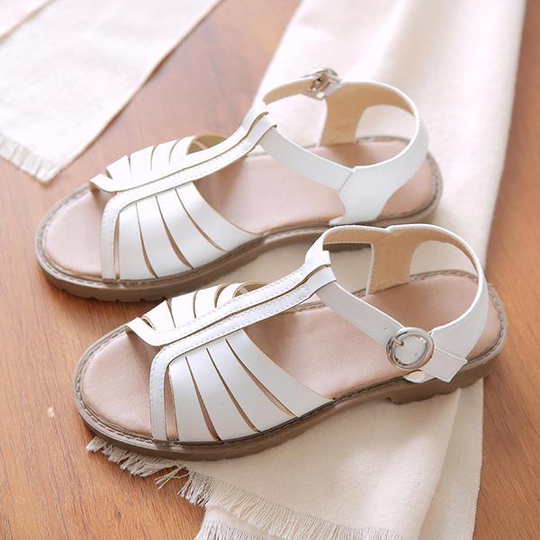 Femmes Similicuir Talon plat Sandales Chaussures plates avec Boucle chaussures