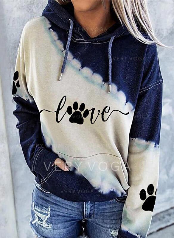 Animal Print Long Sleeves Hoodie