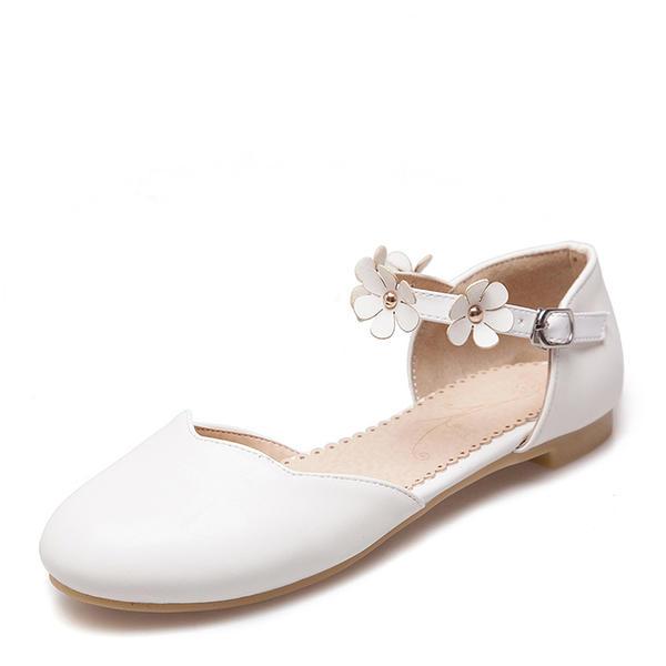 Kvinnor PU Flat Heel Platta Skor / Fritidsskor Stängt Toe med Blomma skor