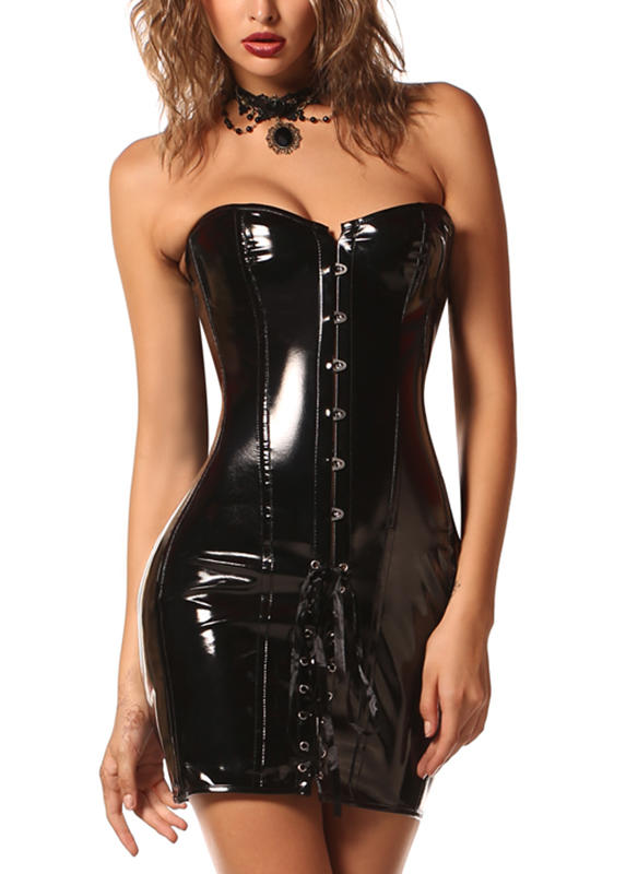 Leather Plain Corset