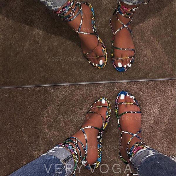Жіночі ПУ Низька підошва Сандалі взуття