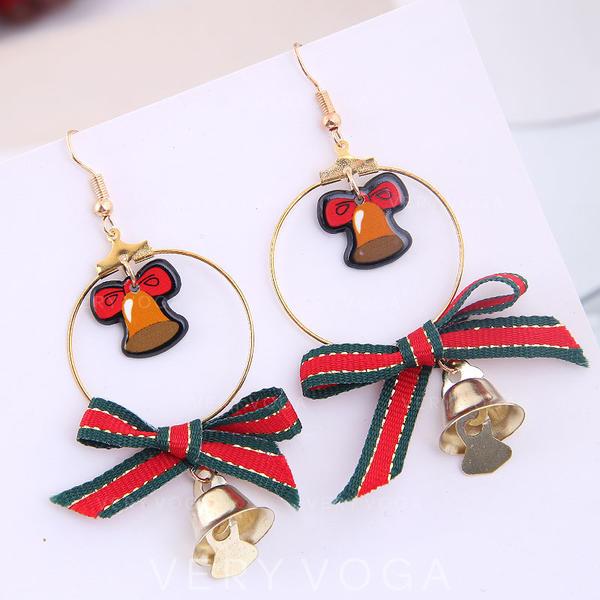 Stylish Cloth Alloy Earrings Christmas Jewelry